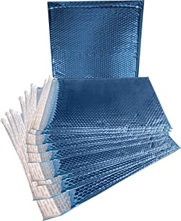 ABC 10 Pack Metallic Bubble mailers 15 x 17. Blue Padded envelopes 15x17. XX-Large Glamour Bubble mailers. Peel and Seal. Cushion mailing envelopes for Shipping, Packing, Packaging. Wholesale Price.