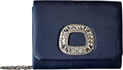 Jessica McClintock - Katie Satin Brooch Shoulder Bag Clutch