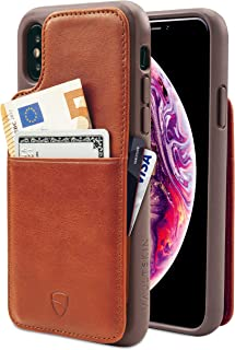 Vaultskin Eton Armour iPhone case with Leather Wallet iPhone XS Max Orange PHEAMIP6B
