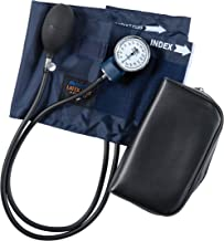 مانیتور فشارخون دستی MABIS سری سری Aneroid Sphygmomanometer با نایلون آبی کالیبراسیون شده و کیف حمل ، بزرگسالان بزرگ