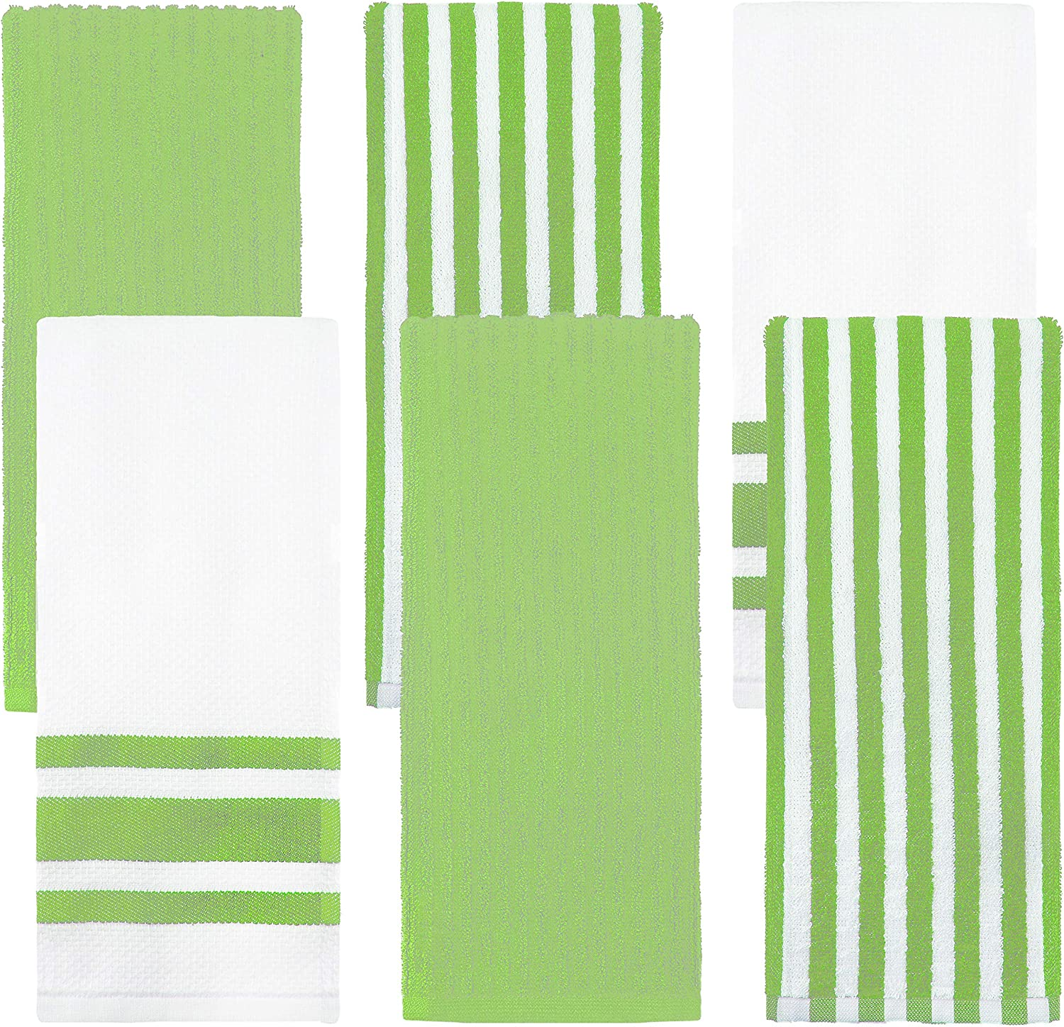 Weavely Kitchen Dish Towels - Set of Cotton Terry 6 Towe We OFFer at cheap Las Vegas Mall prices