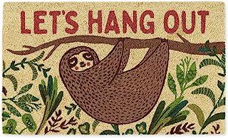 "DII Animal Pun Collection Natural Coir Doormat, 18x30"", Hang Out Sloth"