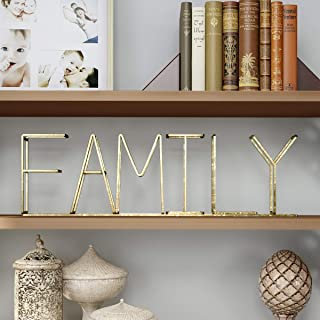Lavish Home Cutout Free-Standing Table Top Sign-3D Word Art Accent Decor with Gold Metallic Finish-Modern, Classic, or Far...