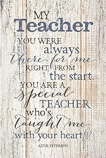 Dexsa My Teacher…New Horizons Wood Plaque with Easel