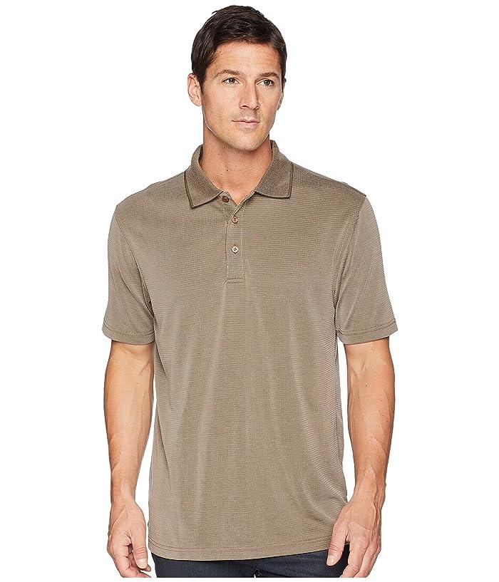 BUGATCHI Short Sleeve Polynosic Polo (Truffle) Men
