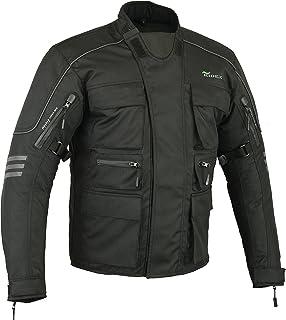 CJ1 - Chaqueta de protección impermeable para motocicleta, hombre