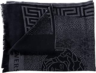 Versace 100% Wool Multi-Color Unisex Scarf
