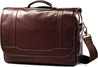 Samsonite Colombian Leather Flapover Briefcase, Brown