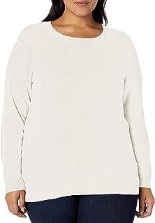 Amazon Essentials Jersey de Cuello Redondo Ligero de Manga Larga de Talla Grande Suéter para Mujer