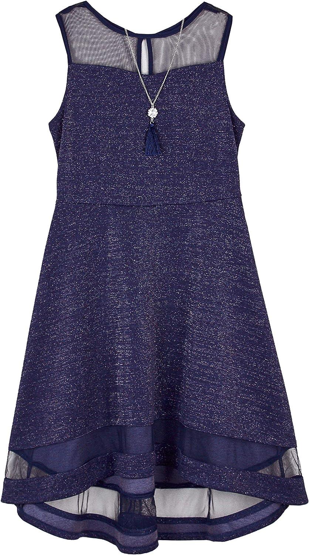 Columbus Mall Amy Byer Girls' Knit Dress Illusion Brand new Yoke Hem and with