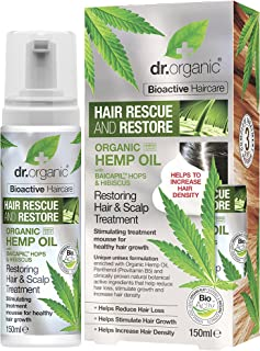 DR ORGANIC Restoring Hair & Scalp Treatment Organic Hemp Oil, 150 Milliliter