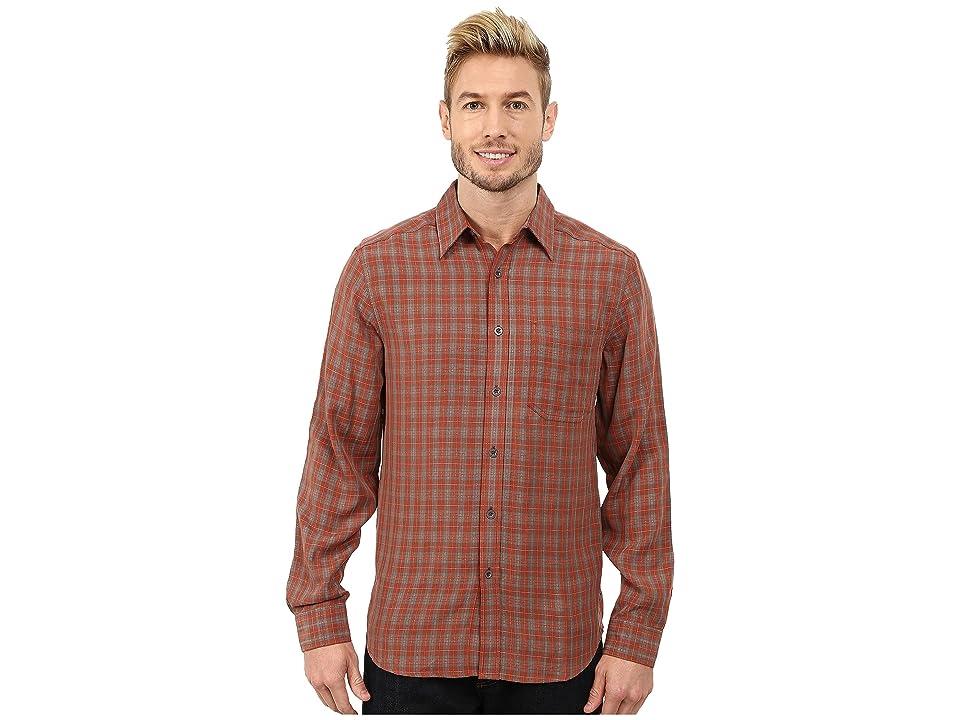 Royal Robbins Hemlock Herringbone Long Sleeve Shirt (Dark Ember) Men