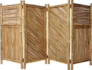 Master Garden Products Galvanized 4-Panel Bamboo Screen Enclosure, 24 by 48-Inch