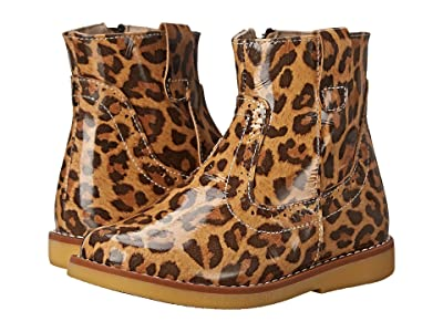 Elephantito Madison Ankle Boot (Toddler/Little Kid/Big Kid) (Patent Leopard) Girls Shoes
