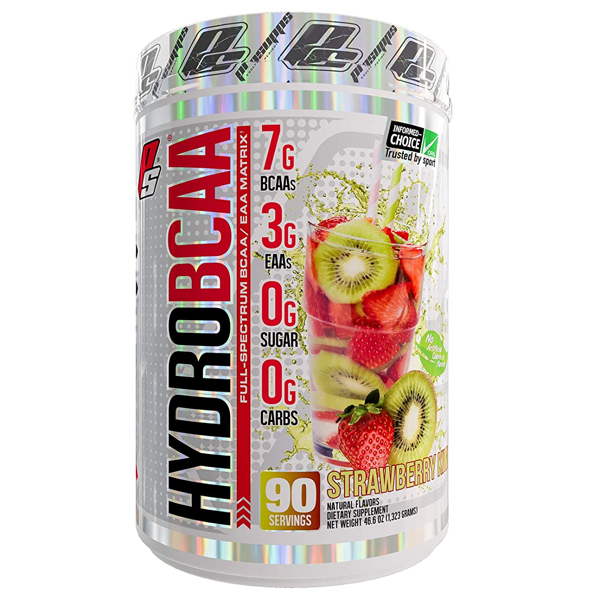 ProSupps HydroBCAA BCAA/EAA Full Spectrum Matrix, 7g BCAAs, 3g EAAs, 0g Sugar, 0g Carbs, 90 Servings, (Strawberry Kiwi Flavor)