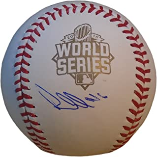Kansas City Royals Paulo Orlando Autographed Hand Signed 2015 World Series Official Game Baseball with Proof Photo of Signing and COA- KC Royals Collectibles