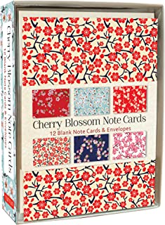 Cherry Blossom Note Cards: 12 Blank Note Cards & Envelopes (4 x 6 inch cards in a box)