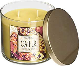 Bath and Body Works Gather Marshmallow Fireside White Barn Scented Candle 3 Wick 14.5 Oz Limited Edition 2015