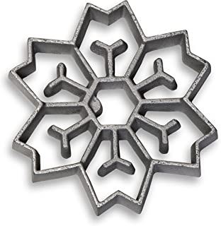 Honey-Can-Do 7130 2-In-1 Snowflake Rosette Iron