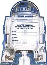 Hallmark Tarjeta de invitación a fiesta de cumpleaños personalizable, con estilo de Star Wars, texto en inglés, 20 unidades