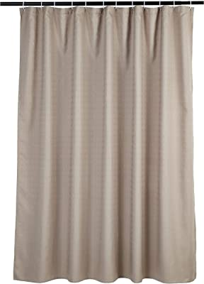 Amazon Basics Linen Style Bathroom Shower Curtain - Taupe, 72 Inch