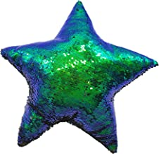 LMC Products Reversible Flip Sequin Mermaid Pillow - Color Changing Star Shape Throw Pillow - 15