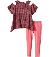Splendid Littles - Yard-Dyed Plaid Cold Shoulder Set (Toddler)