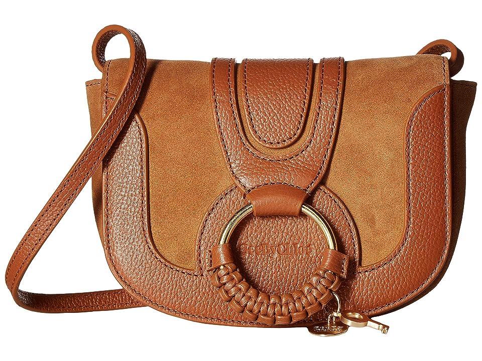 See by Chloe Hana Small Leather Crossbody Bag (Caramello) Handbags