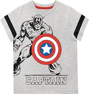 Marvel Camiseta de Manga Corta para niños Captain America