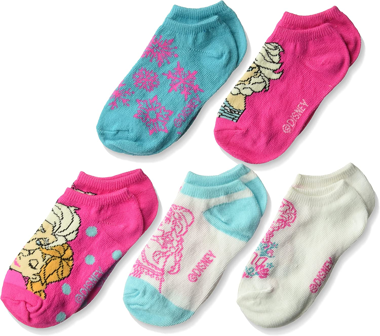 Disney girls Disney Girls' Frozen 5 Pack No Show Socks