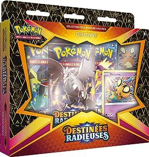 Pokémon EB04.5 : Coffret Pins Dedenne/M. Glaquette de Galar-Destinées Radieuses-Jeu de Cartes à Collectionner (Modèle aléa...