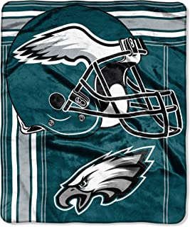 The Northwest Company Officially Licensed NFL Philadelphia Eagles Touchback Plush Raschel Throw Blanket, 50