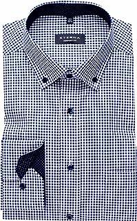 eterna Shirt Comfort Fit Button-Down Collar Patch 4176/19 E144