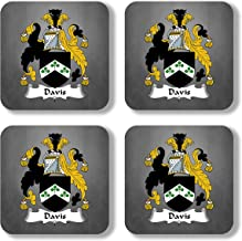 Davis Coat of Arms/Family Crest Coaster Set, by Carpe Diem Designs – Made in the U.S.A.