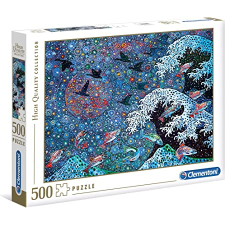 Clementoni 35070 Fantastic Animals 500pc Puzzle-Narwhal