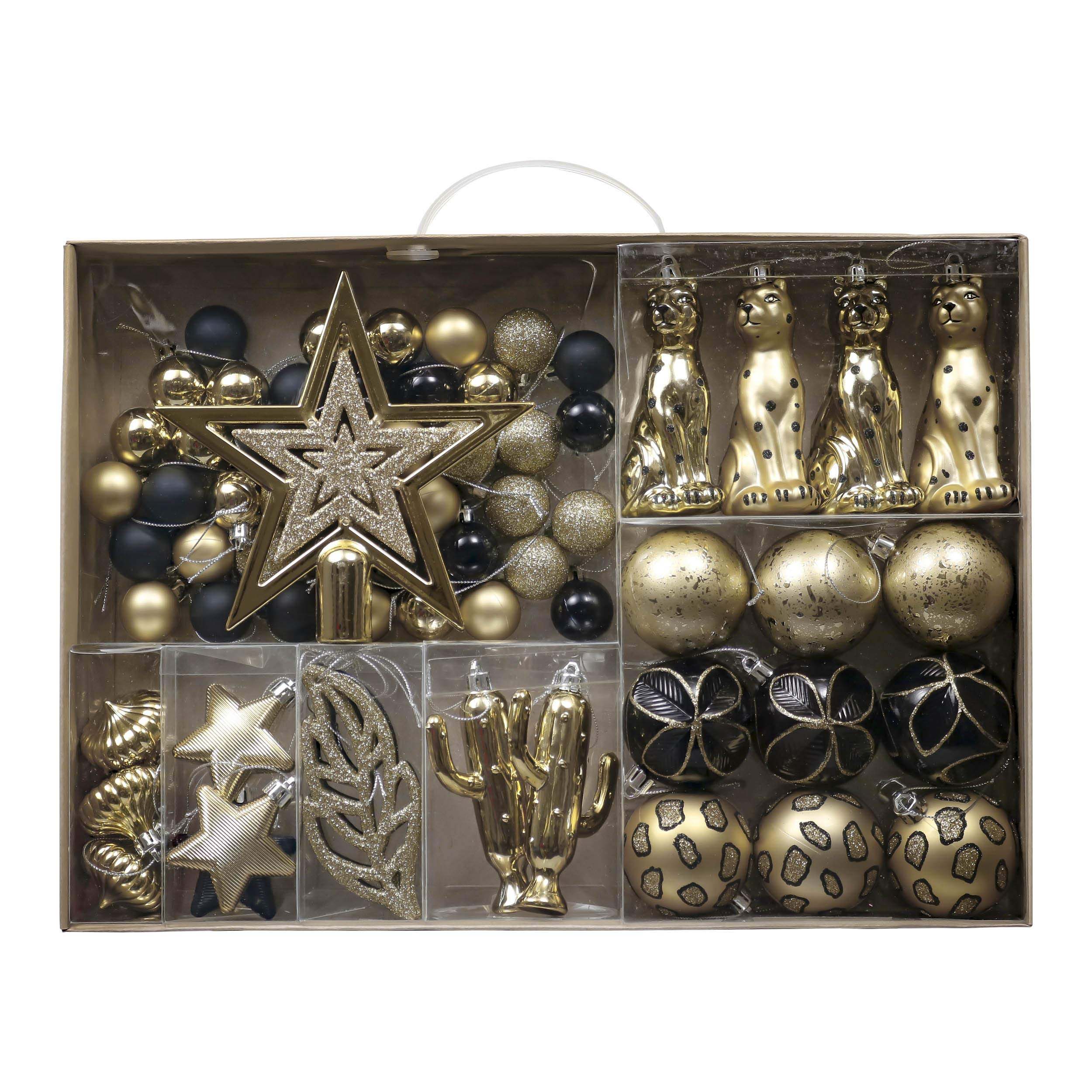 Valery Madelyn 70ct Golden Tropical Party Shatterproof Christmas Ball Ornaments Decoration Black and Gold, Christmas…