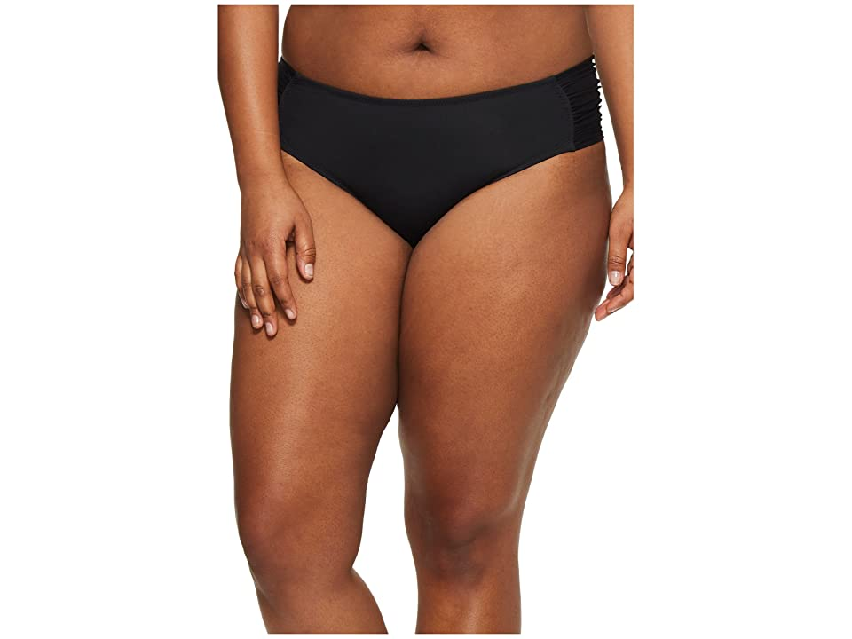 BECCA by Rebecca Virtue Plus Size Color Splash Hipster Bottoms (Black) Women
