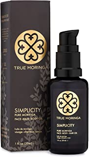 Face Oil - 100% Pure Cold-Pressed Moringa Oil For Face, Body & Hair - Anti-aging, Reduce Wrinkles, Even Skin Tone, Minimiz...
