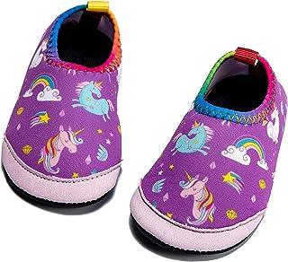 Panda Software Baby Boys Girls Water Shoes Infant Barefoot Quick -Dry Anti- Slip Aqua Sock for Beach Swim Pool