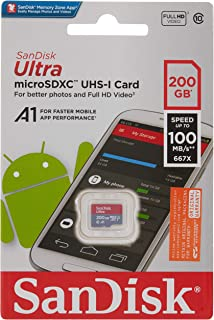 SanDisk 200GB Ultra A1 Micro SD Card 100MB/s Class 10 UHS-I Mobile Memory Card SDSQUAR-200G