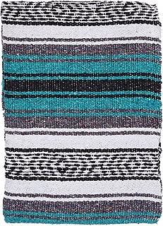 El Paso Designs Genuine Mexican Falsa Blanket - Yoga Studio Blanket, Colorful, Soft Woven Serape Imported from Mexico (Esmerelda)