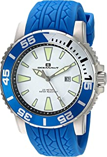 Oceanaut Men's 'Marletta' Quartz Stainless Steel and Silicone Watch, Color:Blue (Model: OC2919)
