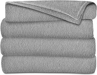 Sunbeam Heated Electric Throw Blanket Fleece Extra Soft, Grey (50 in. X 60 in.)
