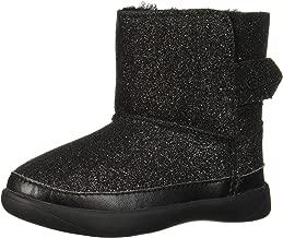 UGG Girls' Keelan Glitter Fashion Boot, Black, 9 M US Toddler