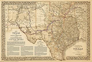 Best texas map antique Reviews