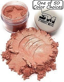 Cosmetic Grade Mica Powder, Natural Blush Powder, Mica Powder for Makeup, Peach Blush Pigment Powder, Making Cosmetics, Bath Bombs, Resin Pigment, Stardust Micas (Golden Guava, 10 Gram Jar)