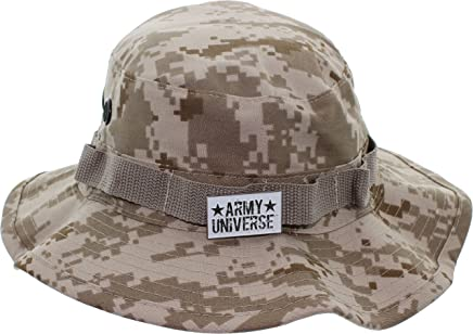 Army Universe Tactical Boonie Hat Military Camo Bucket Wide Brim Sun  Fishing Bush Booney Cap with e6906b2a68e9