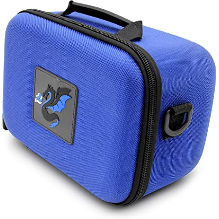 CASEMATIX Blue Robot Toy Box Case Compatible with Up to 4 Ninja Bots Interactive Battling Robots and Ninja Toys Accessories Includes Carry Case Only