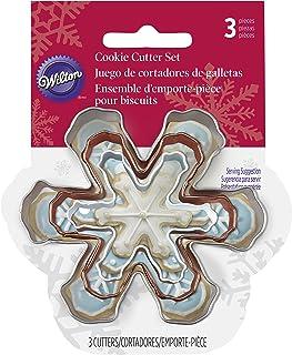 Wilton Snowflake 3 Piece Cookie Cutter Set, Tinplate, Multicoloured, 2.59 x 6.68 x 7.72 cm