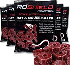 Roshield 1.5kg Wax Block Bait for Rat & Mouse Killer Poison Control (300g x 5 Packs)